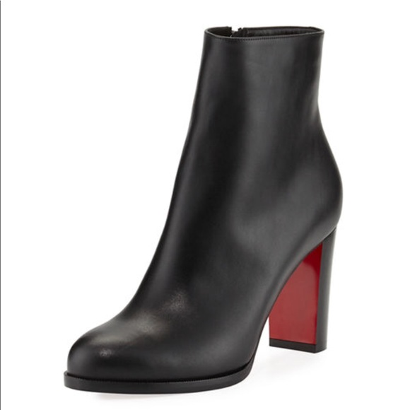 eeee53c40039 Christian Louboutin Shoes - Christian Louboutin Adox Leather Block-Heel Boot